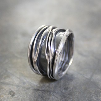 Ring zilver geoxideerd