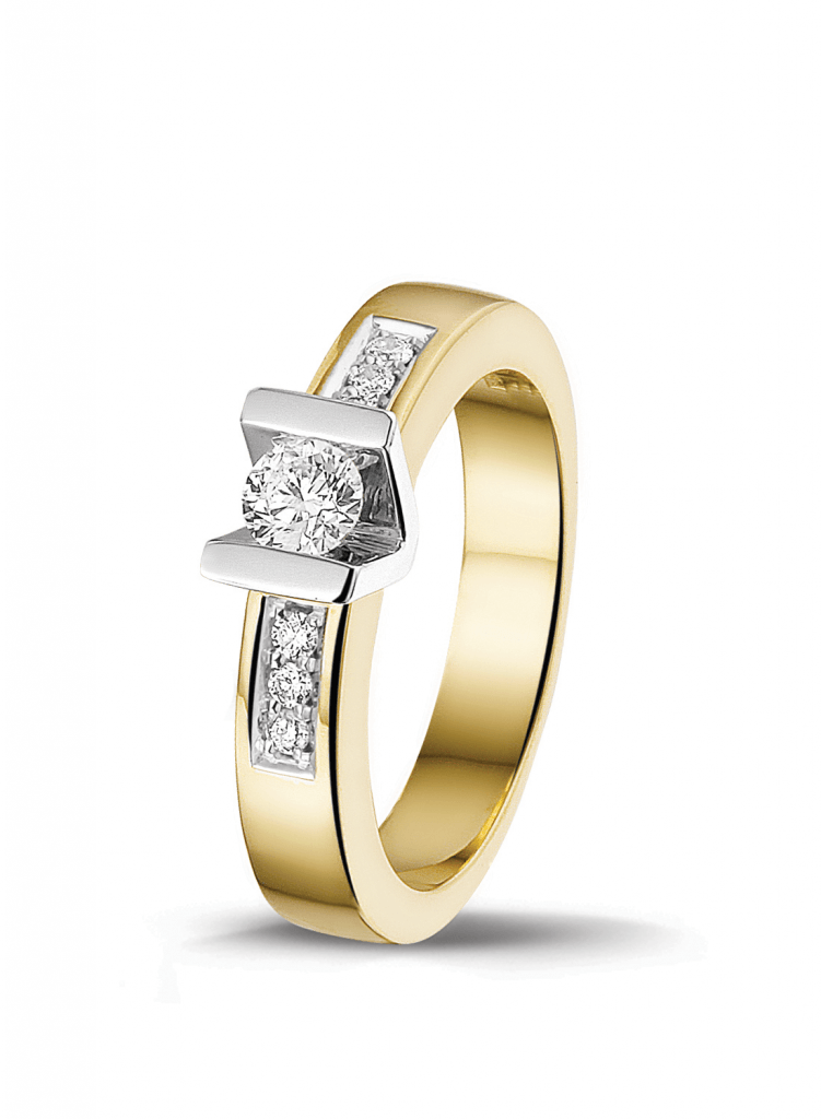 Bicolor diamant ring
