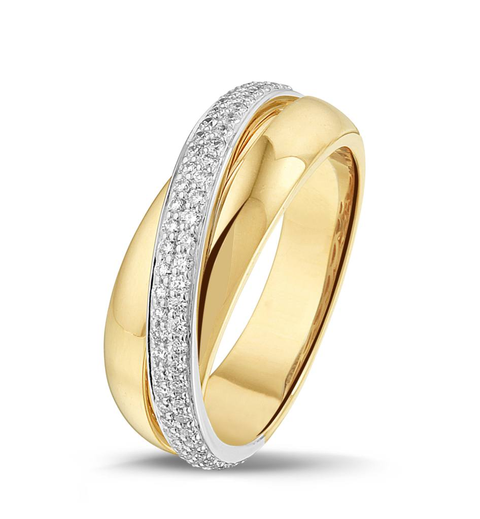 Bicolor ring diamant